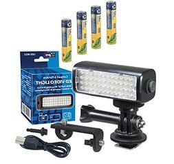Canon Vixia HF R82 Camcorder Lighting LED-M52 Mini LED Light