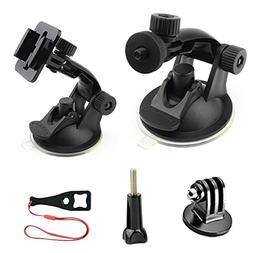 Car Suction Cup Mount for GoPro Hero 6/5/4/3+/3/2/1 Black Si