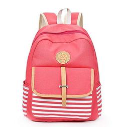 Causal Travel Canvas Rucksack Backpacks for Girls School Boo