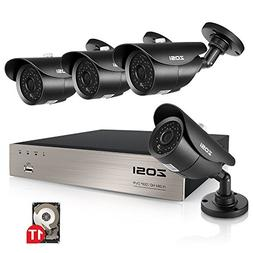 ZOSI 8-Channel Full 1080p HD-TVI Outdoor Surveillance System