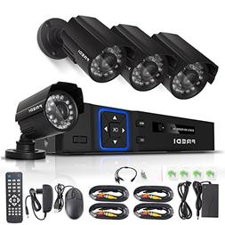 FREDI CCTV KIT 4CH AHD 720P 1MP DVR Video Surveillance Syste