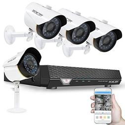TECBOX CCTV Camera Video Security System 4 Channel AHD DVR w