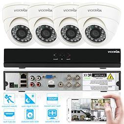 KKmoon CCTV Surveillance DVR Security System 4CH Dome CCTV D