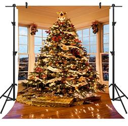 OUYIDA 6X9FT Christmas Tree Decorating Seamless Pictorial cl