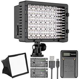Neewer CN-160 LED Digital Camera Video Lighting Kit- Dimmabl