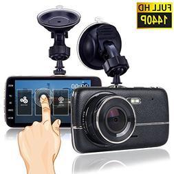 Dash Cam, Car Dash Camera for cars Vehicle Full HD 1440P Tou