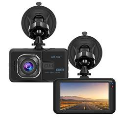 Dash Cam 1080P Full HD 3'' Car Camera with Wide Angle Car Dv