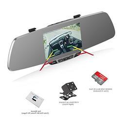 Dash Cam, OUMAX RV50HD-S Dual Lens Car Camera, SONY IMX323 E