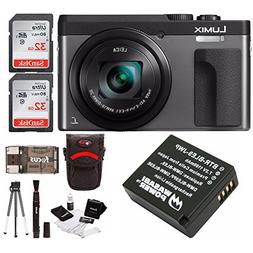 "Panasonic DC-ZS70K Lumix 20.3MP, 4K Touch Enabled 3"" LCD, 18"