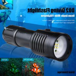 deep underwater flashlight d02 scuba diving 100m