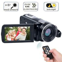 Digital Camcorder with IR Night Vision, WEILIANTE Full HD Vi
