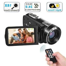 Digital Camcorder with IR Night Vision WEILIANTE Full HD Vid