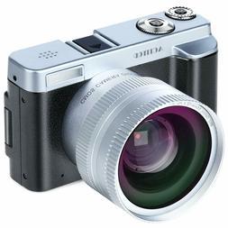 Digital Camera Camcorder, FHD 1080P 24MP 30FPS Vlogging Came