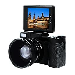 Digital Camera Full HD Video Camcorder 1080p 24.0 MP Point a