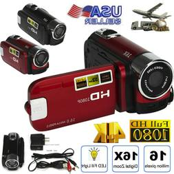 Digital Video Camera 4K HD Camcorder TFT LCD 24MP 16x Zoom D