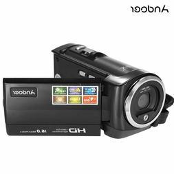 Andoer, Digital Video Camera, HD, LCD ,16MP, 720P, 16xDigita