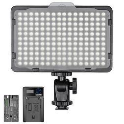 Neewer Dimmable 176 LED Video Light 5600K On-Camera Light Pa