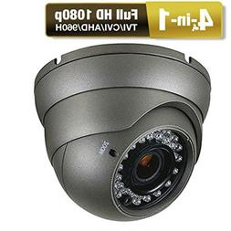 CCTV Camera  HD 1080p 4-In-1  Security Dome Camera  Analog