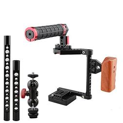 CAMVATE DSLR Camera Cage Kit for Cameras Canon 600D,Panasoni