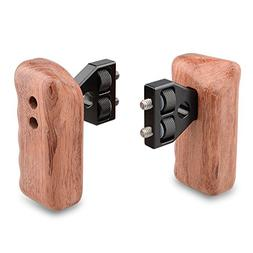 CAMVATE DSLR Wooden Handle Grip with Connector for DV Video
