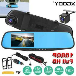 Dual Lens 10'' FHD 1080P Car DVR Video Camera Recorder Dash