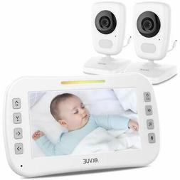 """AXVUE E632 Video Baby Monitor with Two Cameras and 5"""" LCD,"""