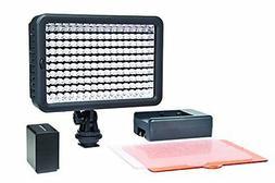 Polaroid Elite Series 160 LED HD Video Light –w/ Dual Brig