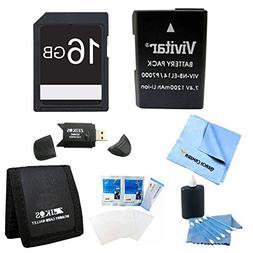 EN-EL14/ENEL14a Replacement battery Kit For NIKON DSLR D5300