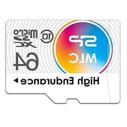 Silicon Power 64GB High Endurance MLC MicroSDXC Memory Card
