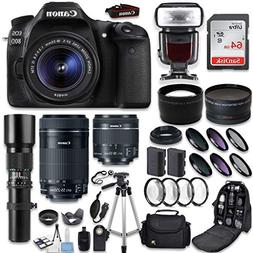 Canon EOS 80D DSLR Camera + Canon EF-S 18-55mm + Canon EF-S
