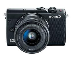 Canon EOS M100 Mirrorless Camera w/15-45mm Lens - Wi-Fi, Blu