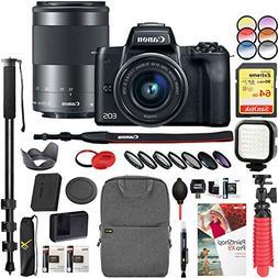 Canon EOS M50 Mirrorless Camera w/ 4K Video EF-M 15-45mm Len