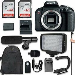 Canon EOS Rebel T7i DSLR Camera  + 120 LED Video Light + Lar