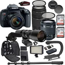 Canon EOS Rebel T7i DSLR Camera Bundle with Canon EF-S 18-55