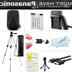 Essential Accessories Kit For Panasonic Lumix ZS50, DMC-ZS45