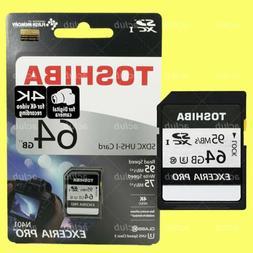 Toshiba Exceria Pro N401 64GB SDXC UHS-I Class 3 4K Video Ca