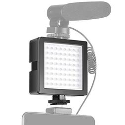 Neewer 3-Way Expandable 64 LED Light Panel On-Camera Video L