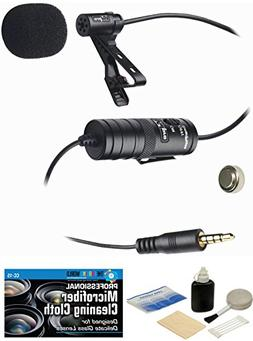 External Lavalier Microphone with 20' audio cable + Accessor