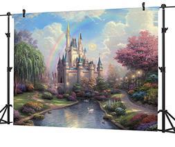 Ouyida Fairy tale castle 7' x 5' CP Pictorial cloth photogra