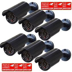 VideoSecu 6 Pack Fake Security Cameras Dummy IR Infrared LED