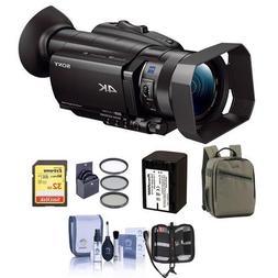 "Sony FDR-AX700 4K Handycam Camcorder with 1"" Sensor - Bundle"