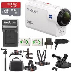 Sony FDR-X3000 4K Action Cam with 64GB microSD Card and Acti