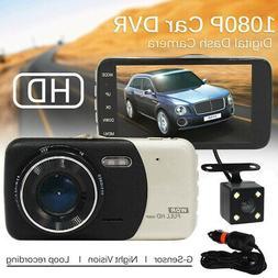 XGODY FHD 1080P Dual Lens 4'' Car DVR Dash Cam Vehicle Video