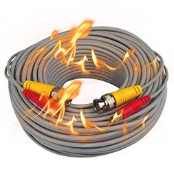 ISEEUSEE BNC Video Power Cable, 100 Feet Fire-Rated Pre-made