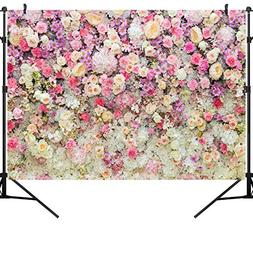 OUYIDA 9X6FT Flower Photo Backdrop Wedding Pictorial Cloth P