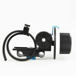 Follow Focus F1 with Gear Belt for 15mm Rod Support DSLR and