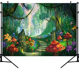 OUYIDA Beautiful Forest Path 7X5FT Pictorial Cloth Photograp