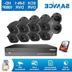 SANNCE Full 1080P Video 5IN1 8CH DVR 100ft Night Vision Secu