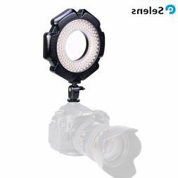 Selens GE-160 LED Video Camera Macro Ring Light w/ 6 Adapter