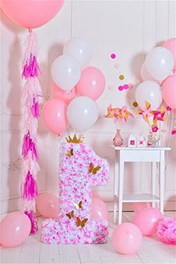 OFILA 1st Girls Birthday Decoration Backdrop 3x5ft Baby Girl